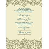 Wedding Invitation Card WIC 7809