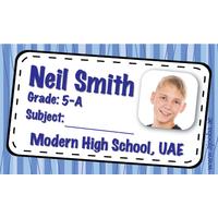 40 Personalised School Label 0200