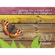Daughter - Personalised Sentimental Wall Calendar
