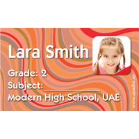 40 Personalised School Label 0213