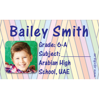40 Personalised School Label 0244