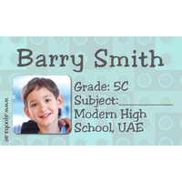 40 Personalised School Label 0286