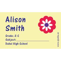 40 Personalised School Label 0319