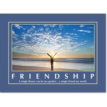Motivational Print Friendship MP SH 8910