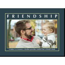Motivational Print Friendship MP SH 8915