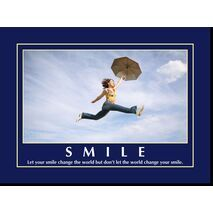 Motivational Print  Let your smile MP AS 7702