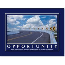 Motivational Print Small opportunities MP AS 7724