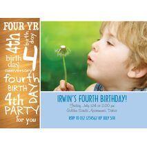 Birthday Invitation Card BIC 1107