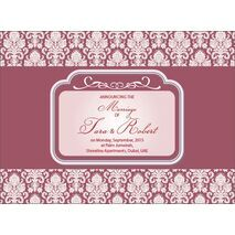 Wedding Invitation Card WIC 7896