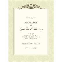Wedding Invitation Card WIC 7904