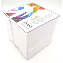 Paperline Cube Memo 90 x 90 mm - 870 sheet without glue plastic case White
