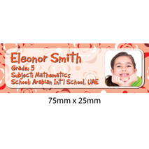 Personalised School Book Label Small PS BLS 0051