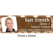 Personalised School Book Label Small PS BLS 0059
