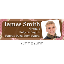 Personalised School Book Label Small PS BLS 0060