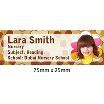 Personalised School Book Label Small PS BLS 0063