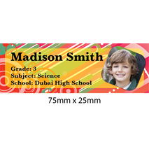 Personalised School Book Label Small PS BLS 0065
