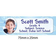 Personalised School Book Label Small PS BLS 0073