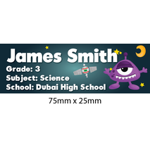 Personalised School Book Label Small PS BLS 0079