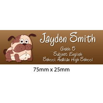 Personalised School Book Label Small PS BLS 0081