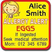 Allergy Label ST AL G 007