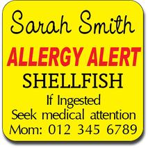 Allergy Label ST AL G 010