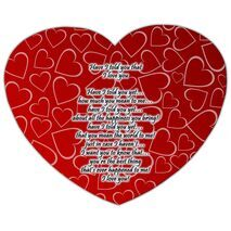 Valentine's Day Heart shape Mouse Pad HS MP 0007