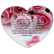 Valentine's Day Heart shape Mouse Pad HS MP 0009