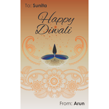 Diwali Design Gift Tag 090