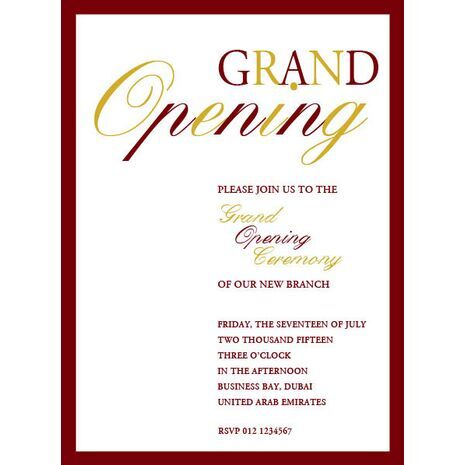 Greeting Cards & Accessories :: Invitations :: Office Inaugural Invitations :: Office Inaugural ...