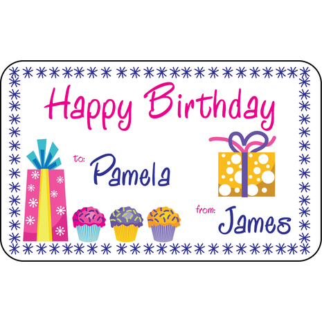 Personalised Gift Labels ST PGL 0006