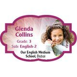 Personalised School Label 044