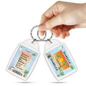 KPK 143 ISABELLE Personalised Name Souvenir Keyring With Qualities
