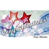 Congratulations Gift Tag C GT 0604