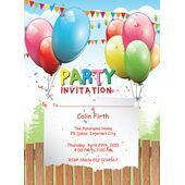 Kids Party Invitation 005