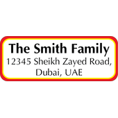 Personalised Return Address Labels ST RAL 008