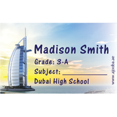 40 Personalised School Label 0340