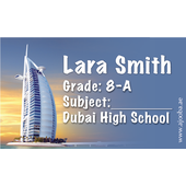 40 Personalised School Label 0343