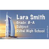 40 Personalised School Label 0343