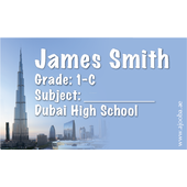 40 Personalised School Label 0346
