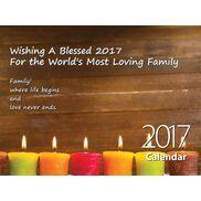 Family - Personalised Sentimental Wall Calendar
