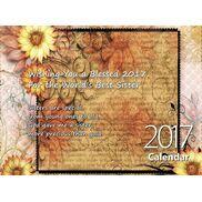 Sister - Personalised Sentimental Wall Calendar