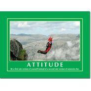 Motivational Print Attitude MP AT 012