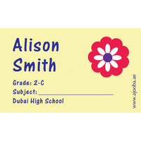 40 Personalised School Label 0319