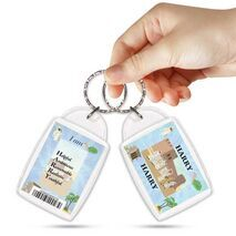 KPK 130 HARRY Personalised Name Souvenir Keyring With Qualities