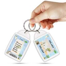 KPK 136 HILARY Personalised Name Souvenir Keyring With Qualities