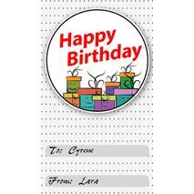 Birthday Gift Tag BGT 0012