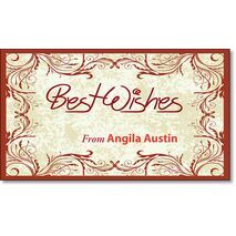 Best Wishes Gift Tag BW GT 0706