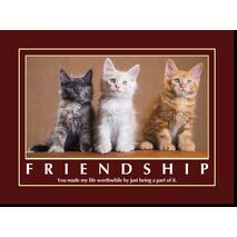 Motivational Print Friendship MP SH 8921