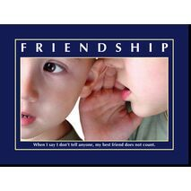 Motivational Print Friendship MP SH 8924