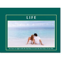 Motivational Print Life MP LI 0028